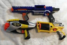 Lot of 2 NERF (DEFECTIVE) and 1 Air Blasters Dart Gun - Rampage Maverick Rev-6