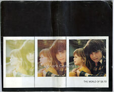 Polaroid World of SX-70, Instant Print Camera Instructions, More Books Listed.