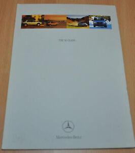 Mercedes Benz M-Class W163 Brochure Prospekt 0298 ENG Edition