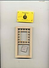 Ventana - Craftsman Estilo - 2119 Madera Casa de Muñecas Miniatura 1:12 Escala
