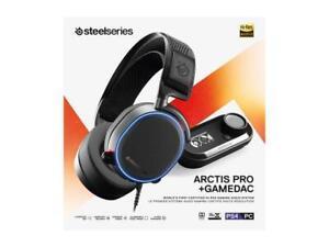SteelSeries Arctis Pro + GameDAC Gaming Headset Certified Hi-Res Audio BlackNEW!