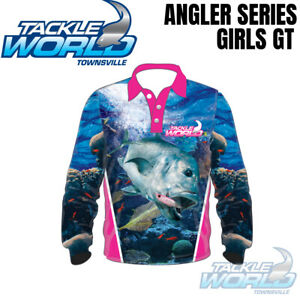 Tackle World Angler Series 2020 Fishing Shirt Junior Girls GT BRAND NEW