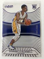 2015-16 Panini D'Angelo Russell RC Clear Vision Blue 83/149 SP Rare Lakers Mint