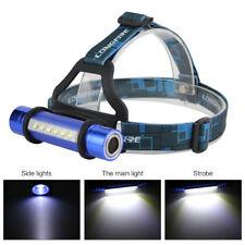 2 in1 Q5 + 6 LED AAA Sport Mini lampe de poche Phare Phare Torche 3 modes Bleu