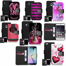 Patterned Mobile Phone Wallet Cases for Samsung Galaxy Core Prime
