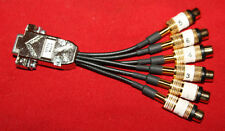 VGA SERIAL 9Pin Male to 6 RCA Female Connector DVR Card Video Cable Plug CCT