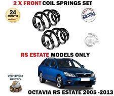 FOR SKODA OCTAVIA 2.0i RS 2.0 TDI RS ESTATE 2005-2013 2 x FRONT COIL SPRINGS SET