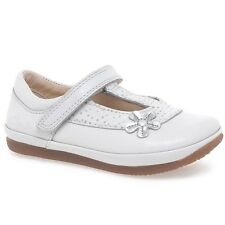 Clarks Elsa DELIA cuir Blanc Filles Chaussures Taille UK 5/21 F