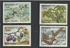 Monaco Préo** YT 106/109  arbre flore fruits prunier prunes