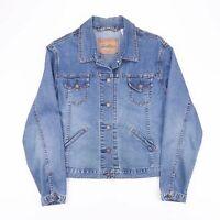 Vintage LEVI'S STRAUSS Blue Grunge Denim Jacket Size Women's Medium