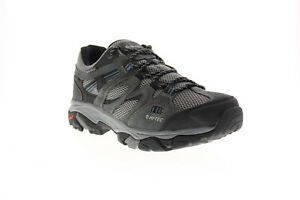 Hi-Tec Ravus Vent Low Wp 53117 Mens Gray Suede Athletic Hiking Shoes 8
