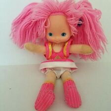 "Vintage Ticked Pink 1983 Rainbow Brite 11"" Doll Hallmark Dress,Boots & Underwear"