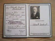 """Handwerkskarte Handwerkskammer Unterfranken""""Führung d.Meistertitels""""mit Brief"""