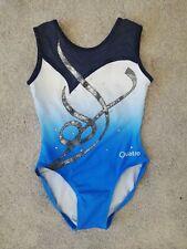 Quatro Blue and White LEOTARD - Size 26/28 - Worn Once - CME/CSM