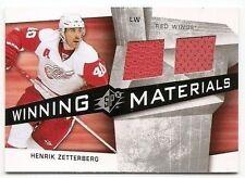 08/09 SPx WINNING MATERIALS JERSEY Henrik Zetterberg