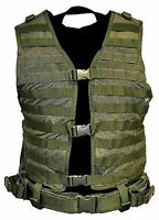 NcStar Military OD Green Molle WEB PALS Modular Tactical Protective Vest Gear