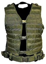 NcSTAR Hunting Hydration MOLLE Vest w/ Belt Pistol Magazine Pouch OD Green