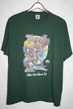 HILTON HEAD ISLAND SC Mens XL T Shirt Green Tropical Fish REEF Logo 100% Cotton