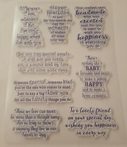 Card Verse Stamps - 8 Verses for Different Occasions – BNIP – FREE P & P