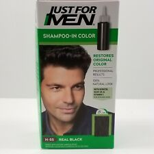 Just For Men Hair Color Real Black H-55 Shampoo In Single Application