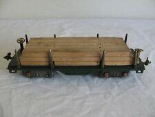 Vintage Lionel Trains Standard Gauge Green Flat Car w/ Lunmber Load #511