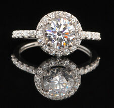 2.70Ct Solitaire With Accents Ring 925 Sterling Silver Awesome Round Shape