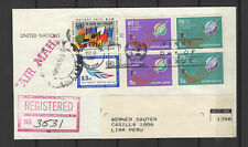 Nations Unies New-York 6 timbres sur lettre tampon à date 1965/B5N-U