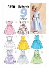 Butterick Sewing Pattern 3350 Size 2-5 Girls Easy Summer Party Dress, Pinafore