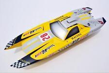 DT G30K Lamborghini Fiber Glass Yellow 30CC Engine Gas RC Race Speed Boat ARTR