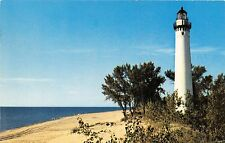 MEARS~HART MICHIGAN LITTLE POINT SABLE LIGHTHOUSE POSTCARD 1961