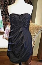 NEW $220 L 6-8 Party Prom Dance Strapless Rose Dress Leola Couture Formal LBD