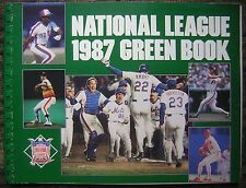 1987 N. L. Green Book with World Series Champs New York Mets Celebration Cover