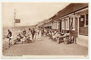 THE PROMENADE SOUTHBOURNE VINTAGE POSTCARD POSTED 1937