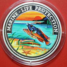 Order Of Malta 500 Liras 1999 Navy Life Protection #F3253 Colored Lippfische