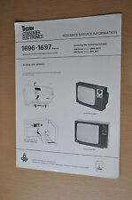 Thorn 1696 -1697 series mains battery portable Tv Genuine Vintage Service Manual