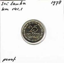 Sri Lanka 25 cents 1978 Proof - KM141.1 (mj053)