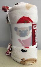 Puppy Dogs Dog Plush Throw Blanket 50x60 inches Santa Pups Pug Dachshund