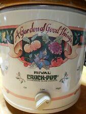 Vintage Rival Crock Pot Slow Cooker 3.5 Qt. Model 3150/2