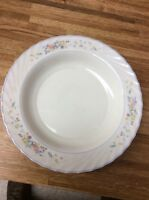 Arcopal France Victoria Round Serving bowl Multicolor Floral Swirl Edge