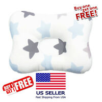 Cotton Baby  Newborn Pillow Flat Head Sleeping Support Breathable