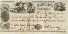 Check, 5.28.1858,New York-Ilion Bank, Herkimer County,$21.76 Very Fine Condition