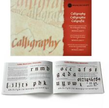 Manuscript Calligraphy Manual   Step by Step Instruction Book with Guidelines