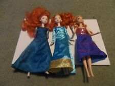Lot of 3 Disney Dolls Great Per-Owned Shape