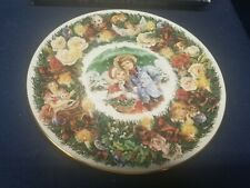 """1993 Royal Doulton """"Best Wishes"""" Christmas Collector's Plate England"""