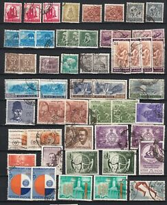 INDIA  1965 1968     lot of 54  stamps