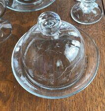 Vintage Princess House Crystal Heritage Cheese Appetizer Butter Plate with Dome