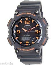 Casio AQS810W-8A Tough Solar Analog Digital Sports Watch 5 Alarms BLACK 100M New