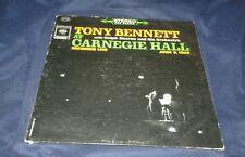 Tony Bennett at Carnegie Hall, 1962 LIVE VINYL STEREO LP (GOOD+) COVER VG+