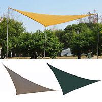 Outsunny Triangle 10'  Patio Canopy Sun Sail Shade Garden Party Cover Outdoor