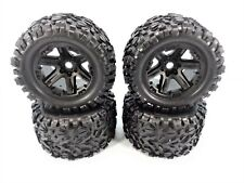 NEW Traxxas 1/10 E-Revo VXL 2.0 Talion EXT Tires & Black 17mm Wheels Revo 3.3
